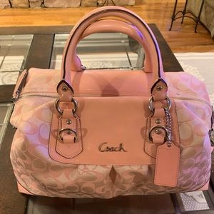 Coach Satchel Handbag -pink